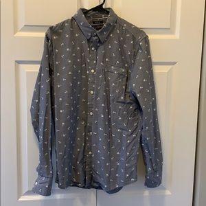 Men's American Rag Pattern Shirt - Grey, M